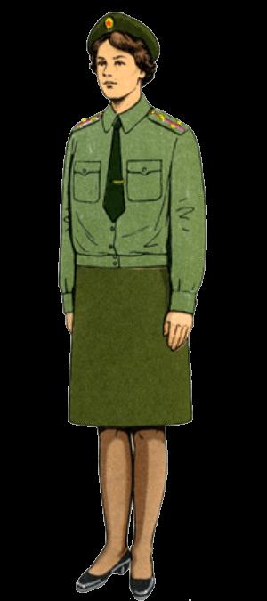 Летняя повседневная форма одежды вне строя офицеров-женщин