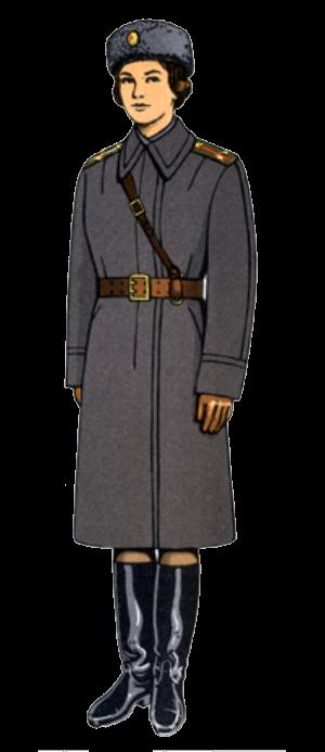 Зимняя полевая форма одежды офицеров-женщин