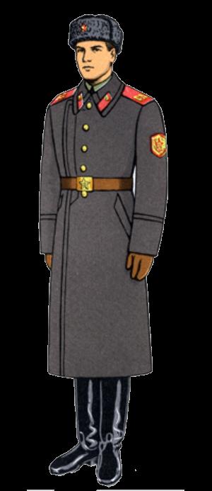Зимняя парадная форма одежды сержантов, солдат срочной службы и курсантов