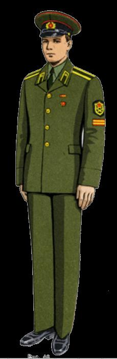 Летняя парадно-выходная форма одежды сержантов, солдат срочной службы и курсантов