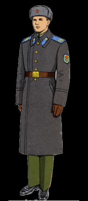 Зимняя парадно-выходная форма одежды сержантов, солдат срочной службы и курсантов