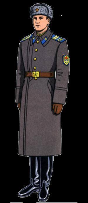 Зимняя повседневная форма одежды сержантов, солдат срочной службы и курсантов