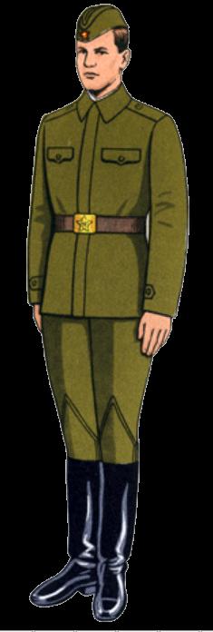 Летняя рабочая форма одежды сержантов и солдат срочной службы
