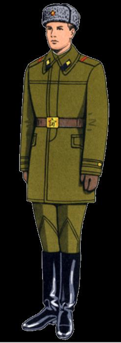 Зимняя рабочая форма одежды сержантов и солдат срочной службы