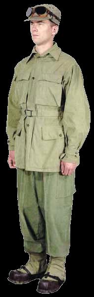 Боец 99 отдельного пехотного батальона «Викинги» в полевом обмундировании. На кепи закреплены очки, предохранявшие глаза от яркого солнечного света, отраженного от снега.
